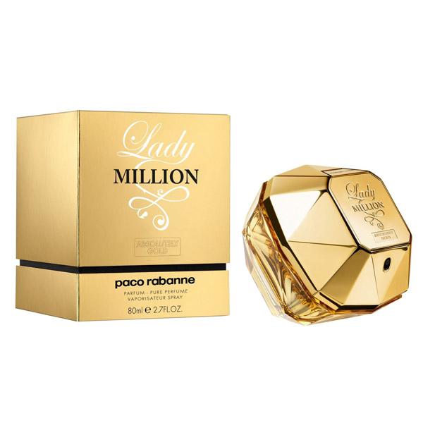 ادو پرفیوم زنانه پاکو رابان مدل Lady Million Absolutely Gold حجم 80 میلی لیتر | Paco Rabanne Lady Million Absolutely Gold Eau De Parfum For Women 80ml