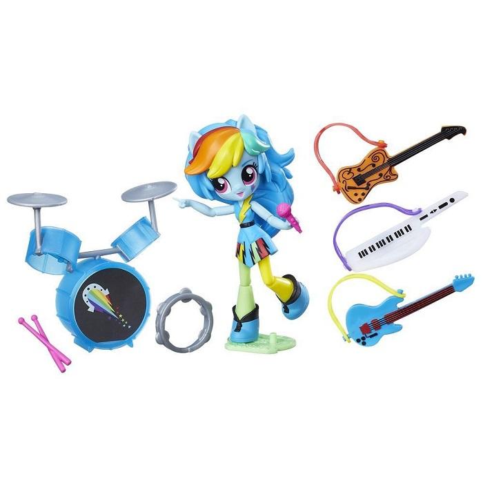 مجموعه کلاس موسیقی هسبرو Hasbro My Little Pony Equestria Girls Minis Rainbow Dash Rockin' Music Class Set B9484 |