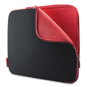"کاور نوت بوک 17 اینچ اسلیو فوم Belkin 17"" Laptop Neoprene Sleeves F8N049EABR Black/Red"