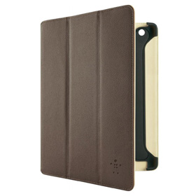 کاور چرمی Belkin Pro Tri-fold Folio Stand F8N755CWC02 Brown for iPad 3/4