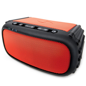 سیستم صوتی قابل حمل ضد آب و ضد ضربه Ecoxgear EcoRox Rugged and Waterproof Wireless Bluetooth Speaker Blue Red