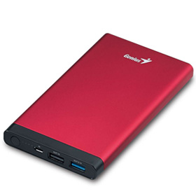 پاور بانک Genius 10000mAh Universal Portable Battery ECO-U1027 Red - گارانتی متم اف‎