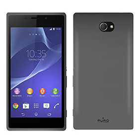 قاب تلفن همراه Puro Silicon Case Black for Sony Experia M2