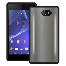 قاب تلفن همراه Puro Silicon Clear Case Black for Sony Experia M2