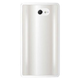 قاب تلفن همراه Puro Silicon Clear Case White for Sony Experia M2