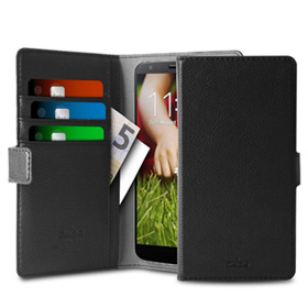 کیف تلفن همراه Puro Uni ECO-Leather Case 360° XL Black with 3 Card Slot and 2 Money Pocket