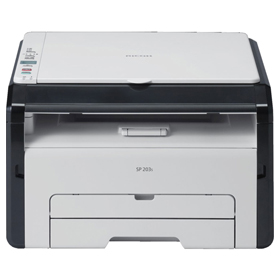 چاپگر چند کاره لیزری Ricoh SP 203S Black and White Multifunction Laser Printer