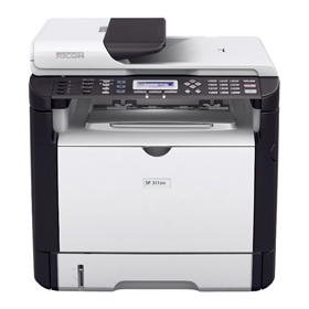 چاپگر چند کاره لیزری Ricoh SP 311 SFN Black and White Multifunction Laser Printer