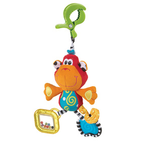 عروسک گیره دار میمون Playgro Dingly Dangly Curly the Monkey