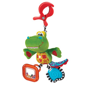 عروسک گیره دار تمساح Playgro Dingly Dangly Snappy the Alligator