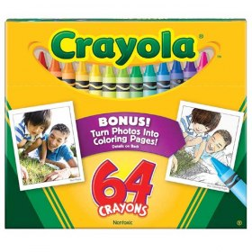 Crayons With Built-In Sharpener 64 ct