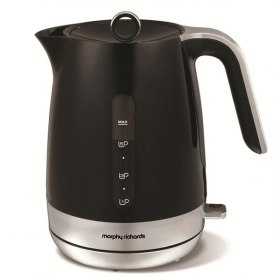کتری برقی پلاستیکی 1.5 لیتر Morphy Richards Plastic Jug Kettle Chroma Black 101402